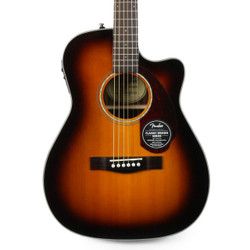 Fender CC-140SCE Spruce Concert Acoustic Electric in Sunburst with Case