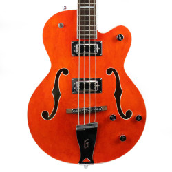 2012 Gretsch G5440B Hollow Body Electric Bass Guitar Orange Stain