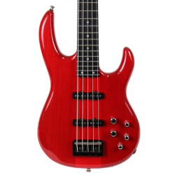 Used Carvin 5-String Bass in Trans Red