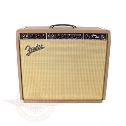 Vintage 1961 Fender Pro 40W 1x15 Tube Combo Amp Brownface
