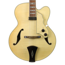 2007 Ibanez AF105F-NT-12-01 Archtop Hollow Body Electric Guitar Natural Finish