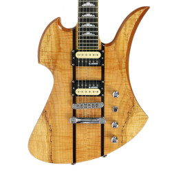 2010 B.C. Rich Mockingbird Exotic Classic Electric Guitar Spalted Maple