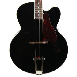 "2015 Gibson Custom Shop Solid Formed 17"" Venetian Hollowbody Electric Guitar Ebony Finish"