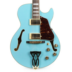 Ibanez AG75 Artcore Electric Guitar in Mint Blue