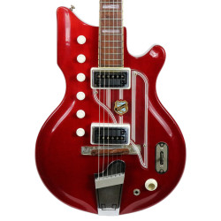 Vintage 1962 National Val Pro Westwood 77 Electric Guitar Cherry Finish