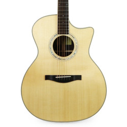 Eastman AC422CE Spruce & Rosewood Grand Auditorium in Natural