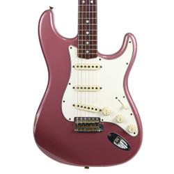 2010 Fender Custom Shop '65 Stratocaster Light Relic Burgundy Mist