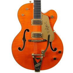 2006 Gretsch Chet Atkins G6120TM Tiger Maple Orange Stain