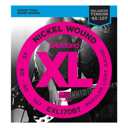 D'Addario EXL170BT Balanced Tension .045-.107 Long Scale Bass String Set