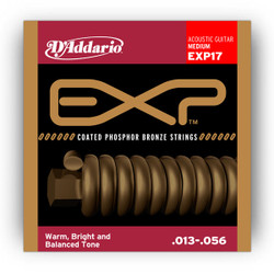 D'Addario EXP17 Coated Phosphor Bronze Medium Acoustic Guitar Strings .013-.056