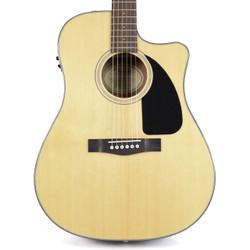 Fender CD60CE Cutaway Dreadnought Acoustic-Electric Guitar Natural