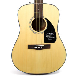 Fender CD-60 Dreadnought Acoustic Guitar Natural with Case