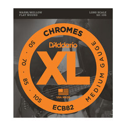 D'Addario ECB82 Chromes Medium Long Scale Bass Strings .050-.105