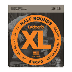 D'Addario EHR310 Half Round Regular Light Electric Strings .010-.046