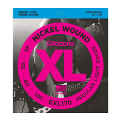 D'Addario EXL170 Nickel Wound Long Scale Light Bass Strings .045-.100