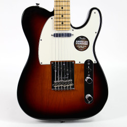 Fender American Standard Telecaster Electric Guitar with Maple Fingerboard 3-Tone Sunburst