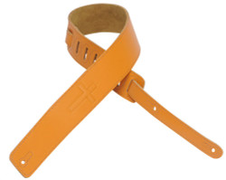 "Levy's DM1SGC-TAN Leather Guitar Strap 2 1/2"" Christian Cross with Suede Backing Tan"