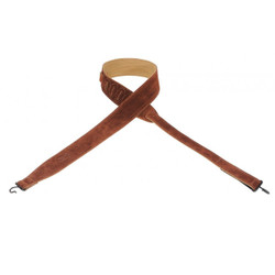 "Levy's MBS12-RST Suede Banjo Strap 2"" With Suede Backing And Hook-and-loop Adjustment Rust"