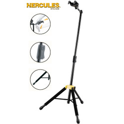 Hercules GS415B Single Folding Guitar Stand w/ Auto Grip System Yoke