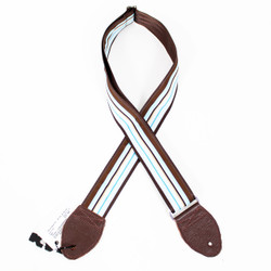 "Souldier ""Boardwalk"" Blue & Brown 2"" Guitar Strap"