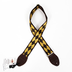 "Souldier ""Diamond"" Gold & Brown Pattern 2"" Guitar Strap"