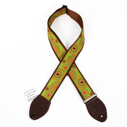 "Souldier ""Crop Circles"" Orange & Green Pattern 2"" Guitar Strap"