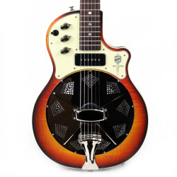 National Resolectric Electric Resonator Guitar in Sunburst