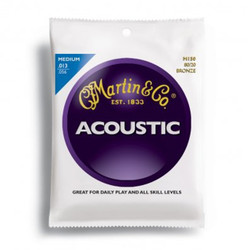Martin M150 80/20 Bronze Medium Acoustic Guitar Strings .013-.056