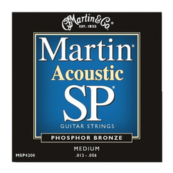Martin MSP4200 Phosphor Bronze Medium Acoustic Guitar Strings .013-.056