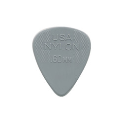 Dunlop Guitar Picks Nylon Standard 12-Pack Grey .60mm
