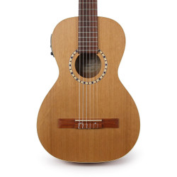 Art & Lutherie Ami Nylon Cedar Acoustic Electric Parlor Guitar in Natural