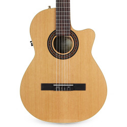La Patrie Concert CW QI Cedar & Mahogany Acoustic-Electric Classical Guitar with Case