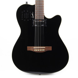 Godin A6 Ultra Acoustic Electric Guitar in Black High Gloss
