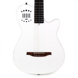 Godin Multiac Grand Concert Duet Ambiance Acoustic Electric Guitar B Stock in White High Gloss