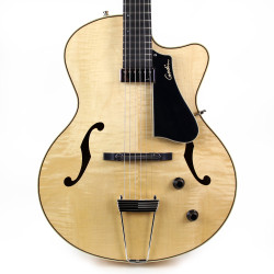 Godin 5th Ave Jazz Archtop Hollow Body Electric Guitar B Stock in Natural High Gloss