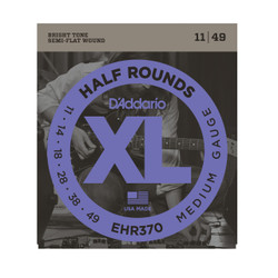 D'Addario EHR370 Half Round Electric Strings Medium .011-.047