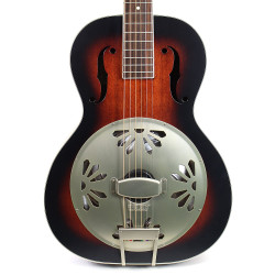 Gretsch G9240 Alligator Biscuit Round Neck Resonator Guitar Two Tone Sunburst
