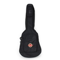Levy's EM20S Deluxe Acoustic Guitar Gigbag Black Poly with Embroidered Cream City Music Logo