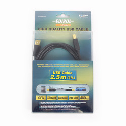 Edirol by Roland CUSB-M2 8' High Quality USB Cable Type A to Type B (2.5m)