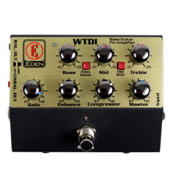 Used Eden WTDI World Tour Preamp Bass Guitar DI Pedal