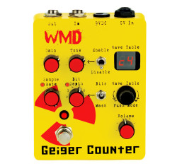 WMD Devices Geiger Counter High Gain Preamp/ 8-Bit Computer Guitar Pedal
