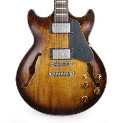 Ibanez AMV10ATCL Artcore Vintage Semi-Hollowbody Electric Guitar in Tobacco Burst Low Gloss