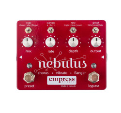 Empress Effects Nebulus Chorus Flanger and Vibrato Guitar Pedal