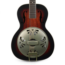 Gretsch G9241 Alligator Biscuit Round-Neck Resonator with Fishman Pickup in 2 Color Sunburst