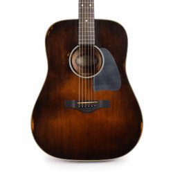 Ibanez AVD6DTS Artwood Vintage Dreadnought Acoustic Guitar in Distressed Tobacco Sunburst