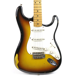 2001 Fender Custom Shop '56 Stratocaster Relic Electric Guitar Sunburst Finish