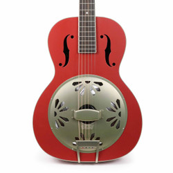 Gretsch G9241 Alligator Biscuit Round-Neck Resonator with Fishman Pickup in Chieftain Red