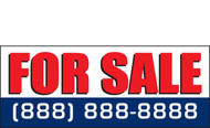 For Sale Banner Vinyl Signs 1100