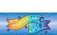 Anniversary Sale Sign Banner Style 1500