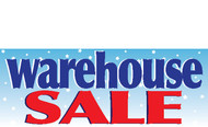 Warehouse Sale Banner Sign 1200